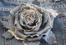цветы и украшения ткань-шерсть
