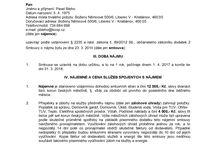 Dodatek 3 smlouvy o nájmu bytu ze dne 23.03.2014