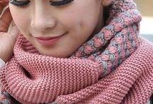 снуды, шарфы, шали
