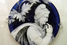 Portland vase / Roman glass ornament, cameo glass.