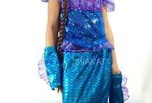 MEERJUNGFRAU PRINZESSIN KOSTÜMSET 3-4 JAHRE / Meerjungfrau Kostümset Gr.3-4 Jahre. Bei eBay Verkäuferin *miakat*
