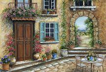 flowers  door