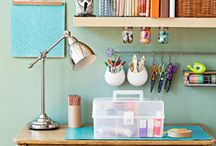 studio/craft space/organize / by Kirsty Perrett
