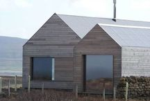 Silvered house exterior