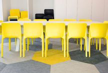 Cool school library study tables