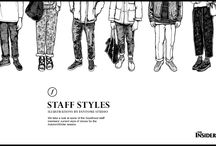 THE INSIDERS / GoodHood Staff Styles illustrated by Fantome Studio http://www.fantomestudio.com/