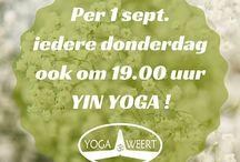 YW Instagram Meer Yin! Vanaf donderdag 1 september a.s. kun je zowel om 19.00 uur als om 20.30 uur komen Yinnen met Maxime. ☯