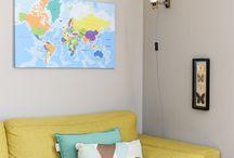 Interieur / Bekijk hier onze sfeerfoto's en laat je inspireren! www.wereldkaarten.nl