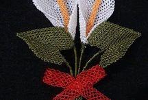 Gala çiçeği iğne oyası