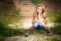 young girl poses