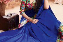 Lace sarees