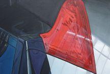 COUP DE FOUDRE AUX INVALIDES /  VOITURE/Volvo/PEINTURE  Huile sur toile  80x60