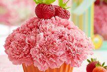 Капкейки из цветов