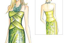 dessins robes courtes