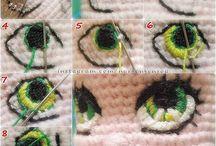 Amigurumi Göz,Saç,Ağız