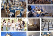 Paula and Jason, May 23 2015 #greek #blue #gold #weddingreception / Paula and Jason #greek wedding at Annunciation Church in Dayton, Ohio / by Your Dream Day (Cafe)