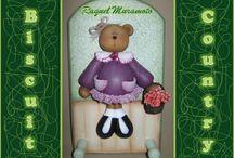 Bear Decor  / Modeling biscuit, popular cold porcelain.