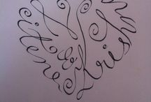 Calligraphy jk / Krishna and Jit