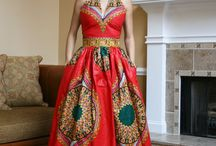 Afro wedding dress