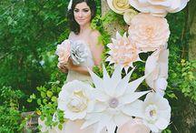 Fleurs en papier de mariage