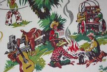 Vintage Barkcloth, Fabric & wallpaper / by Jacie C.