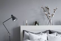 gray grey bedroom