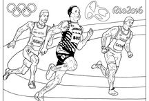 Olympic / Sport adult coloring pages / Especially for the 2016 Rio Olympic games, we have created exclusive coloring pages representing different sports : fencing, athletism, swiming, gymnastic, basketball …