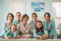 Wedding Bridesmaids / Fun and Beautiful Maids At Key Largo Lighthouse Beach Wedding Venue in the Florida Keys