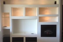 Plasterboard shelves