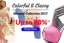 Colorful & Classy Summer Collection / Jazz up your summer wardrobe and add a pop of color into your summer outfit. We enjoyed handpicking this fabulous collection of colorful and classy women 's clothes, maxi dresses, bright high heels shoes, swimwear, statement accessories and so much more. Happy Shopping!