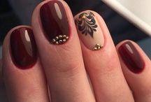 Короткий дизайн ногтей