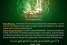 Asma ul Husna (Attributory names of ALLAH S. W. T. )