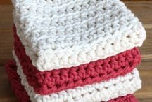Crochet dish cloth and