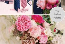 pink-navy blue wedding