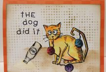 Cat cards / by Crafty Hallett Stampin Up' UK Demonstrator