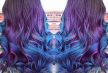 purple&blue hair
