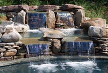 Waterfall Wonderland / Waterfalls are a lovely addition to your pool design. See what ideas you can come up with for your future pool renovation or design!