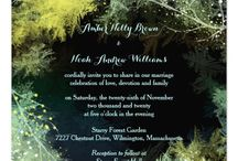 Starry Forest Wedding Collection / Mystic, colorful forest leaves and glittering little stars perfect for your winter wedding or whimsical indie wedding!