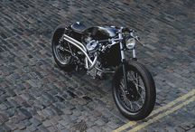 Motorcycles, bycles and Cars / Cafe Racer, Tracker, Bobber, Chopper, finally bikes scrambler and custom - I love it !