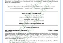 Teacher Resume Samples Including Principals / Resume and cover letter samples for elementary teachers, special education teachers, middle teachers, social studies teachers, music teachers, art teachers, media/librarian, college instructors, school principals and other educators.