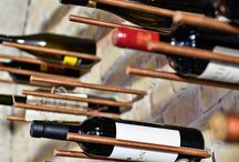 Wine rack./wijnrek. / How do you keep your wine? That can be done in several ways. It is important that the wine is horizontal so the cork doesn't dry out, quiet and dark, = not in the Sun!