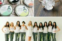 bridemaids present