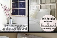 Upcycled Window Makeovers / I'm collecting ideas for upcycling and repurposing vintage windows.  I love to use old windows, with or without the glass, in DIY home decor projects.  Perfect for farmhouse style home decor in the living room, bedroom, guest room, bathroom, kitchen, or entry.