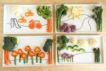 assiettes d'enfant végétarien / Des idées et des pensées à propos des repas végétariens pour enfants