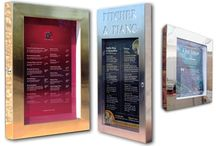 Cafe & Restaurant Menu Display Case Manufacturers / Menu Display Cases for Restaurants, Cafe and Bars. We can create Bespoke designs in brass, Stainless Steel, Brushed Stainless Steel or even Rust Finish!