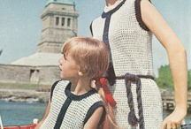 Mother and daughter vintage style, maching clothes