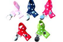 Schnullerbänder / Baby-Schnullerbänder in vielen bunten Farben, gestreift und gepunktet