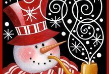 Muñeco de nieve cuadros