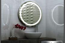 Oglinzi baie cu iluminare