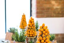 Orange / Bright and colorful event coming up? Use these for inspiration for your next Holiday Party, Wedding, or corporate event!